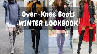 How To Wear Over-Knee Boots / Long Boots - WINTER LOOKBOOK