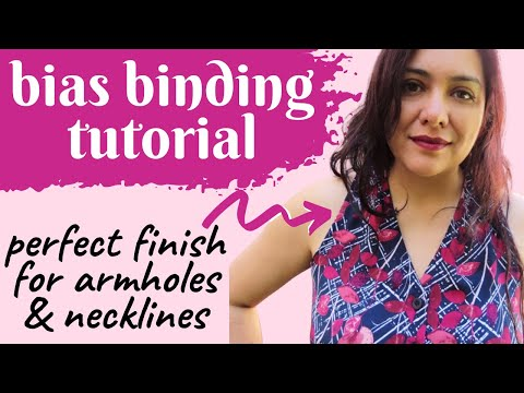 The perfect finish for sleeveless tops, dresses + necklines.  Bias binding tips and tricks.