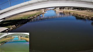 X Hover StingyV2 6S Quad 5 FPV Drone Flying One Pack Rip! Trinity River Freestyle Under the Bridge!