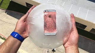 Can iPhone SE Survive 100 FT Drop Test Frozen in Ice Block?