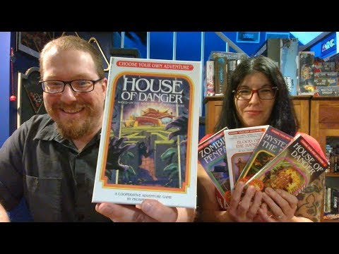 The Board Game Kaptain's review and tutorial for Choose Your Own Adventure: House of Danger