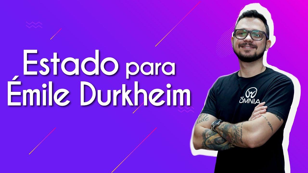 Estado para Émile Durkheim