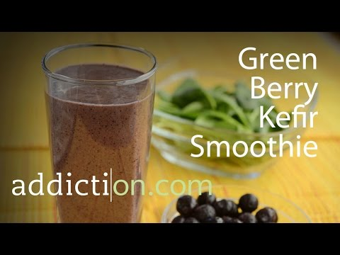 Recipes for Recovery: Green Berry Kefir Smoothie