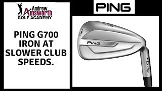 Ping G700 Iron At Slower Club Speeds.
