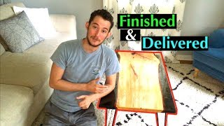 DIY: How to Make a Resin and Wood Coffee Table Using Stone