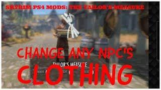 Skyrim PS4 Mods: Tailor's Measure