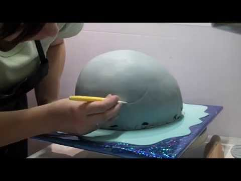 """Мастер-класс создания торта """"Рыбак и кит"""""""