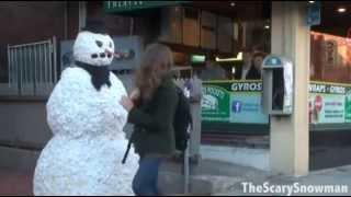 Мега прикол. Испуги снеговиком. Вот это ржачь!