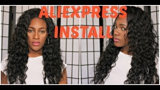 Installing My Aliexpress Brazilian Hair *Queen Weave Beauty*