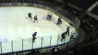 preview picture of video 'Solid hit by # 13 Alex Bourret (Cornwall) on # 3 Louis-Philippe Lachance (St-Georges) 30-3-2013'