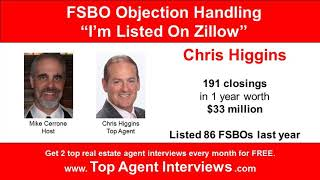 FSBO Objection: I'm Listed On Zillow - How To Respond | Success Calls | MMAN