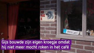Gijs bouwde zijn eigen kroegje omdat hij niet meer in het café mocht roken - Nieuwe Streken Van Jo…