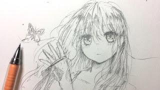 女の子描いてみた/draw Manga Girl✎ASMR