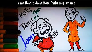 Drawing For Kids Patlu Form Motu Patlu How To Draw A Carton For
