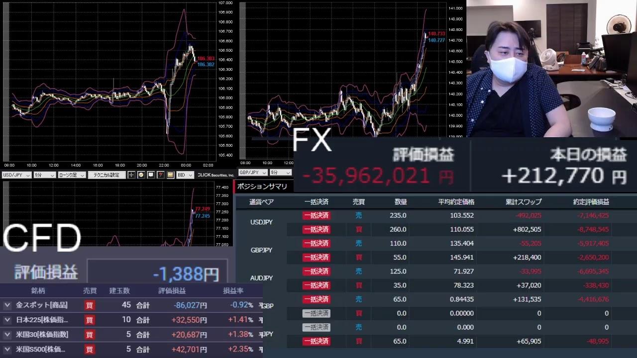 爆損FXライブ配信(垂れ流し雑談) #FX #投資