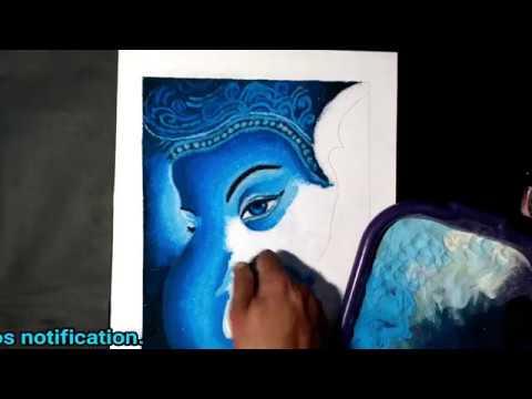 monocolor rangoli design ganapati by jeet