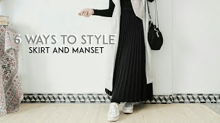 How To Style Skirt And Manset | Everyday Hijab Outfit Ideas
