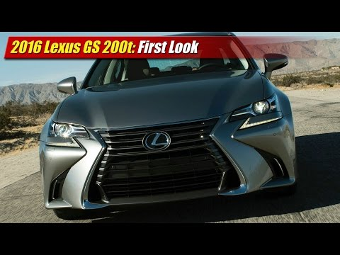 2016 Lexus GS 200t First Look