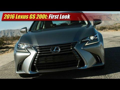 2016 Lexus GS 200t First Look
