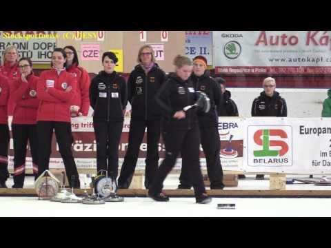 Eisstocksport EM 2017 1. Qualifikation Damen Mannschaftsspiel