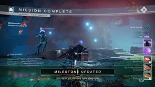 Destiny 2 Prestige nightfall complete in 1 minute
