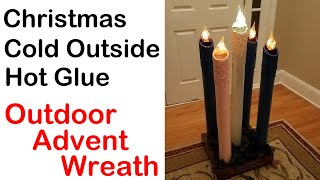 Large Outdoor Advent Wreath - How To