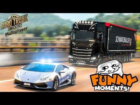Euro Truck Simulator 2 Multiplayer | Funny Moments & Crash Compilation | #56