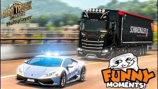 Euro Truck Simulator 2 Multiplayer   Funny Moments & Crash Compilation   #56