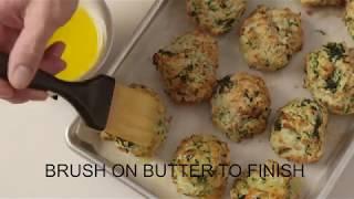 Spinach Parmesan Drop Biscuits