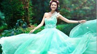 Wedding Dress Green Colour