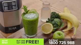 Nutri Ninja Recipe - The Incredible Hulk Juice with Banana, Kale & Coconut Water