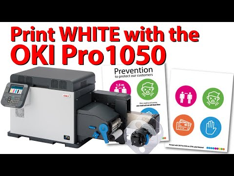 OKI Pro1050 - Print Labels with WHITE toner