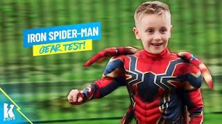Iron Spider-Man?! Avengers Infinity War Movie Gear Test for Kids!