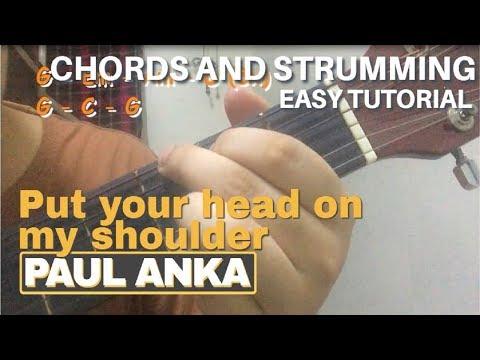 Put your head on my shoulder - Paul Anka | Easy Guitar Chords Tutorial