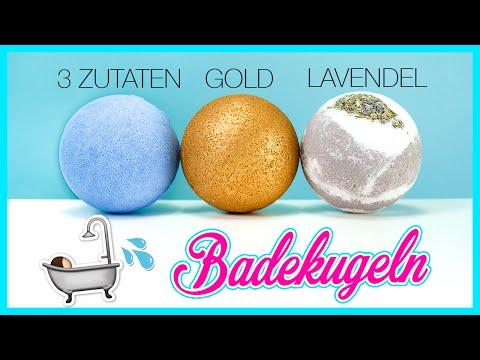 DIY BADEKUGEL MIT BADEÖL 🛁| 3 Einfache Rezepte Badebomben 💦 LUSH