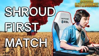 Shrouds FIRST Time Playing PUBG - Player Unknown