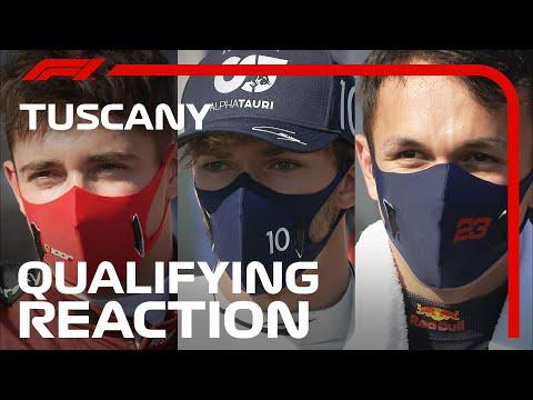 F1 2020 第9戦トスカーナGPの予選を終えたドライバーのコメントを集めたインタビュー動画