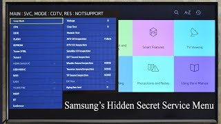 How to get access to service menu Samsung smart TV. How to perform factory reset. Hidden Menu