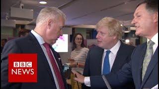 Boris Johnson vs Ian Lavery: 'You pointed in my face' BBC News