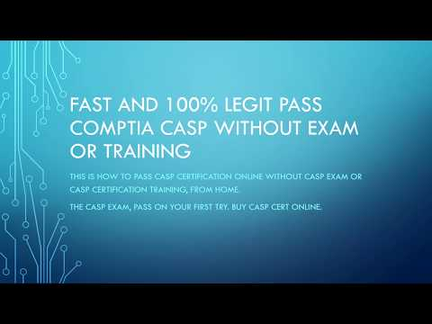 FAST and 100% LEGIT CompTIA CASP without exam or ... - YouTube
