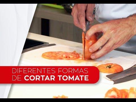 Corte con cuchillos - Cortar tomate