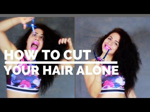 Πως να κόψεις τα μαλλιά σου μύτες μόνη σου