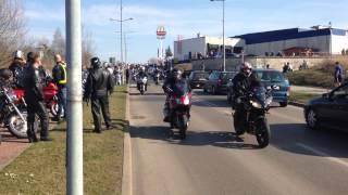 preview picture of video 'Start sezonu motocyklowego 2014 Jastrzębie Zdrój - BURA SUKA'