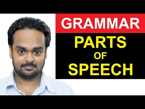 8 PARTS OF SPEECH - Noun, Verb, Adjective, Adverb Etc. Basic English Grammar - with Examples