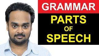 8 PARTS OF SPEECH - Noun, Verb, Adjective, Adverb Etc. Basic English Grammar - With Examples