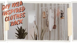 DIY IKEA INSPIRED CLOTHES RACK (Spent 281 Pesos Only!)