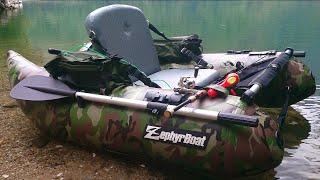 バス釣り フローター ゼファーボート ZF-158VH Zephyrboat 組立から入水