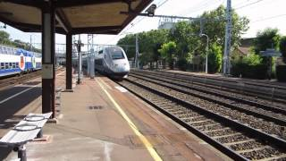 preview picture of video 'TGV Trains at Maisons-Alfort Alfortville 8 August 2012'