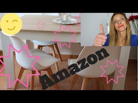 mesa y sillas de amazon ,muy elegantes y faciles de montar!!
