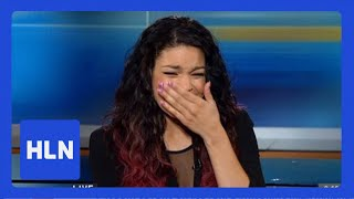 Whitney's message brings Jordin Sparks to tears
